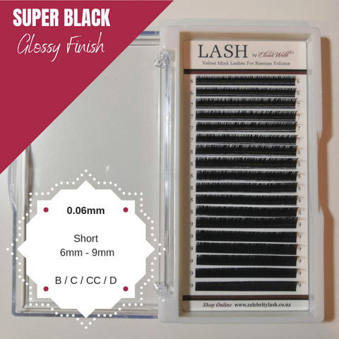 LASH Velvet Mink 0.06mm Short Mixed Tray (Black)