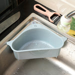 Triangle Shape Drain Rack Kitchen Sink Storage Rack Suction Cup Washing Bowl Sponge Holder Bathroom Corner Kitchen Organizer