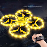 Mini Helicopter Induction Drone Smart Watch