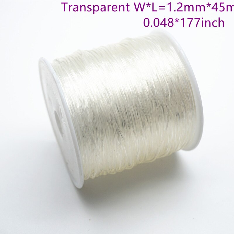 50m/Spool 1.2mm 1.5mm Elastic Crystal Cord Beading String Thread Stretch Cord For Handcraft Necklace Bracelet Accessories HK027