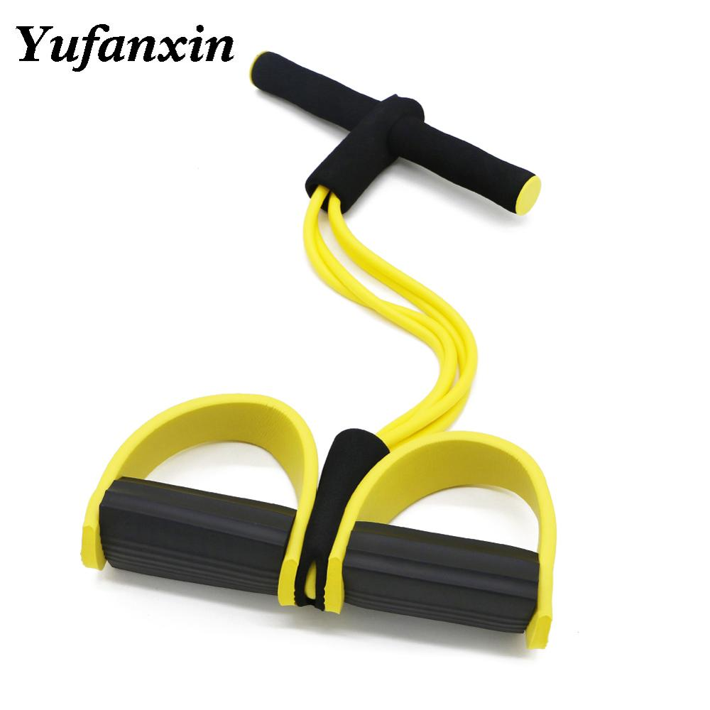 Fitness Gum Resistance Bands Latex Pedal Exerciser Sit-up Pull Rope Expander Elastic Bands Yoga equipment Pilates Workout