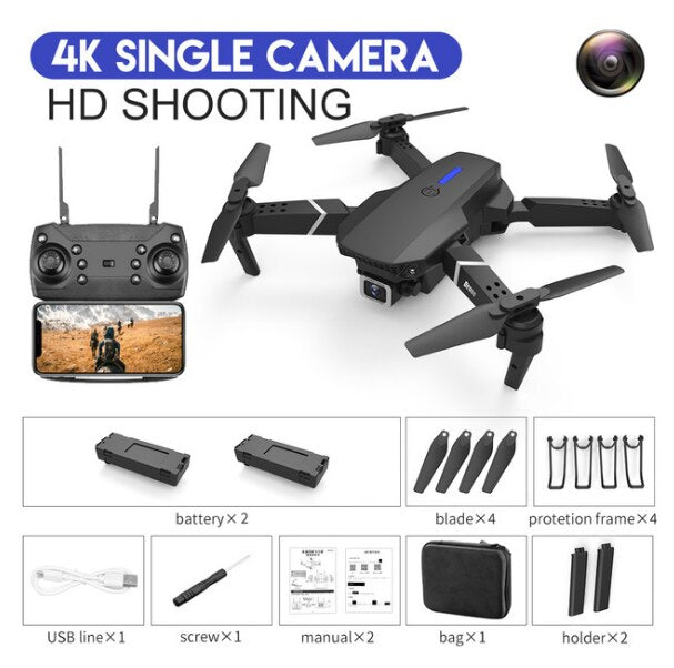 New RC drone E525 WIFI FPV & wide-angle high-definition 4K dual camera