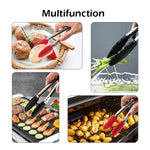 100% SILICONE FOOD TONGS KITCHEN TONGS UTENSIL COOKING TONG CLIP CLAMP ACCESSORIES SALAD SERVING