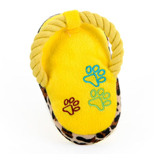 Plush Slipper Shape Squeaky Toy