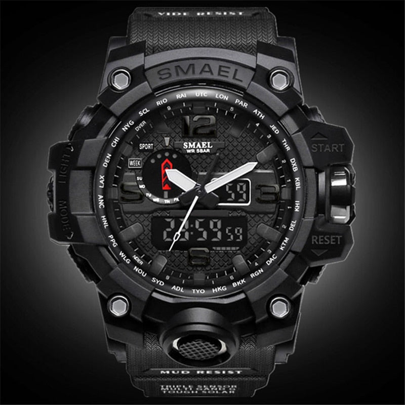 Men Analog  Military Quartz Watch Men Sports