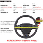15 inch/38 cm PU Leather Car Steering Wheel Cover Anti-slip