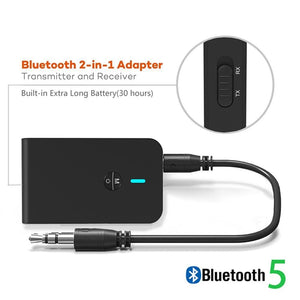Bluetooth 5.0 Receiver Transmitter 2 IN 1 3.5mm for Car trial