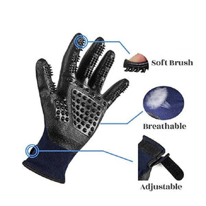 Pair of DeShedding Gloves For Dogs ,Cats , Horses & Animals
