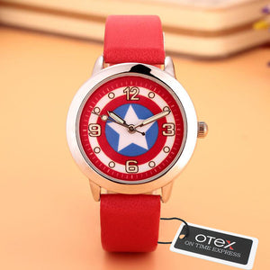 Captain America Civil War Avengers Watch Fashion Watches Quartz children PU strap Kids Clock boys girls Students Wrist watch