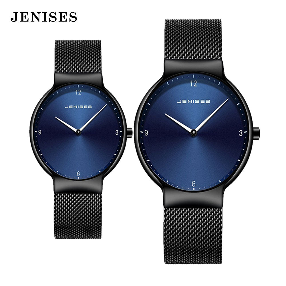 Couple Watch Man and woman Luxury Brand Thin Full Mesh Simple Elegant Waterproof  Watch Couple Lovers Quartz Business Wristwatch