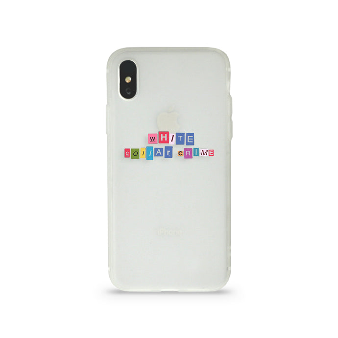 WHITE COLLAR CRIME GLOW IN THE DARK iPHONE CASE