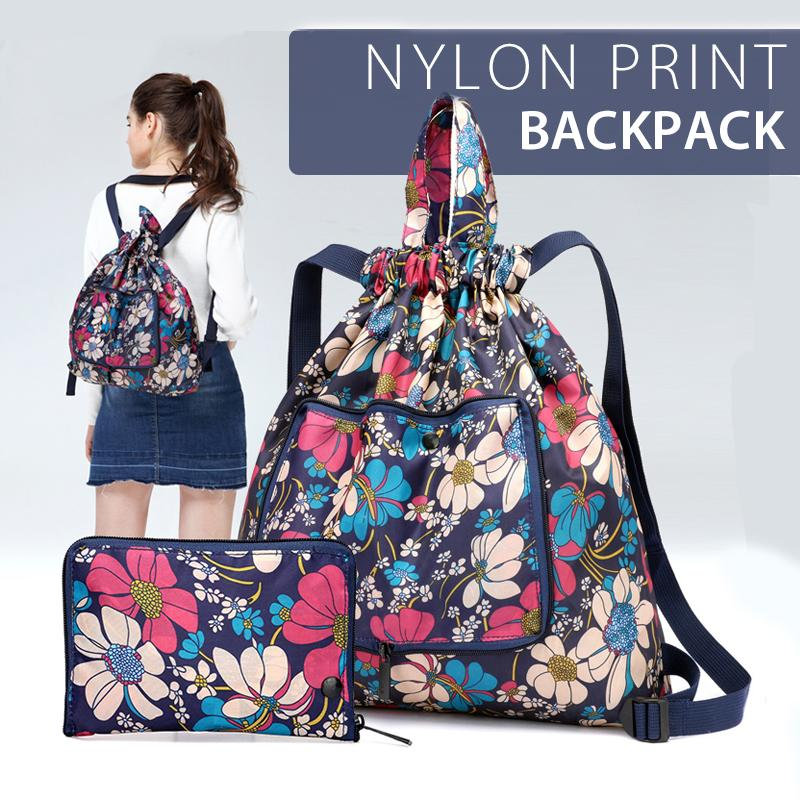 Waterproof Multifunctional Nylon Print Backpack
