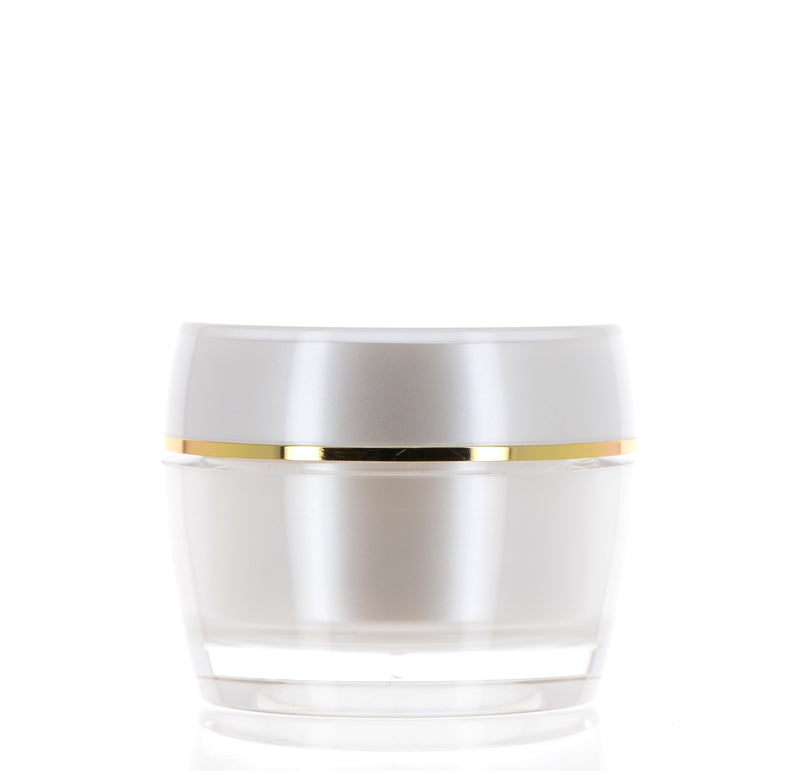 PP/PMMA, Pearl White & Gold Jar