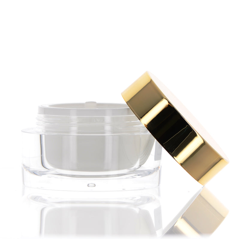 Double Wall Jar, Gold Cap, 40ml