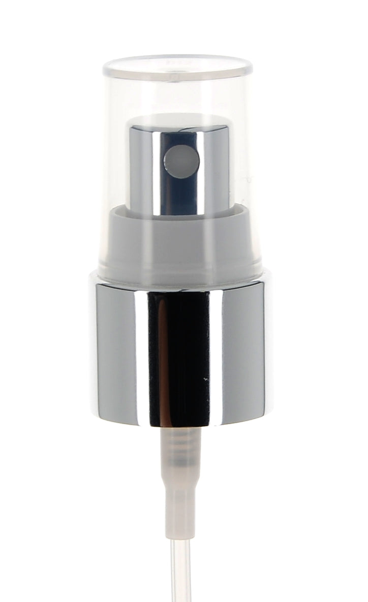 Aluminum, Fine Mist Sprayer with Over Cap, 0.13cc