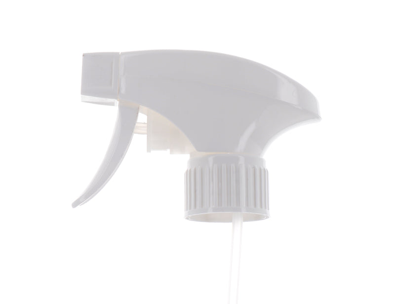 White, Ribbed, Trigger Sprayer, 1.35cc