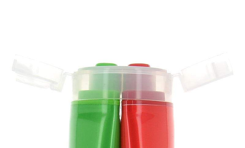 Red & Green Dual Tube with Flip Cap