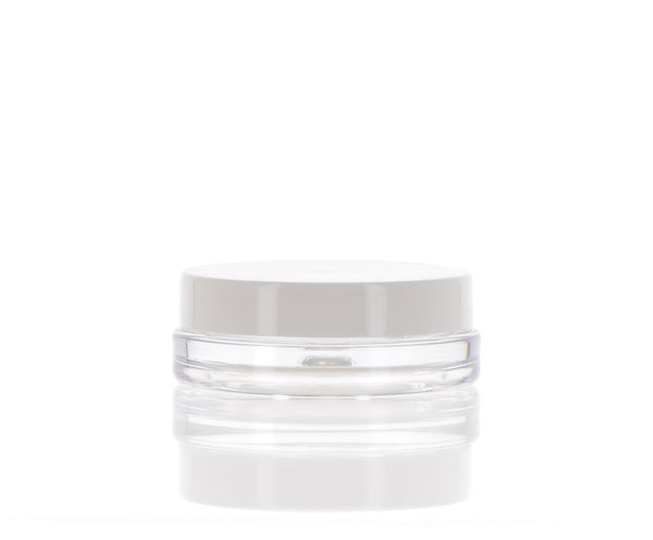 Clear Jar with White Cap, 4ml