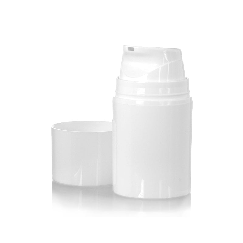 Short All White Airless Bottle