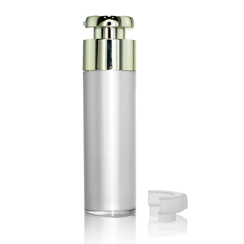 Gold Actuator Round Airless Bottle 50ml @