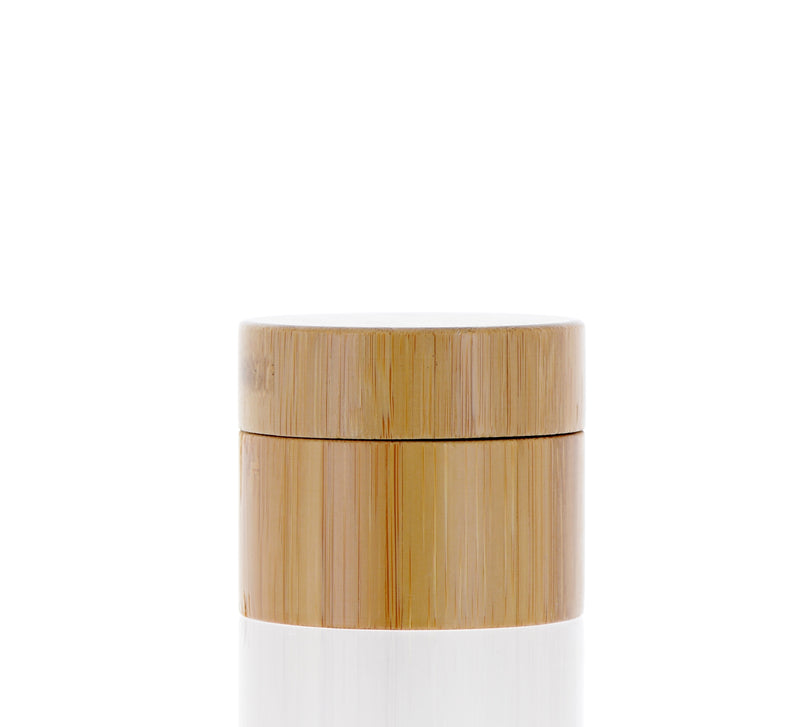 Natural White, Bamboo, Glass Jar, 40ml