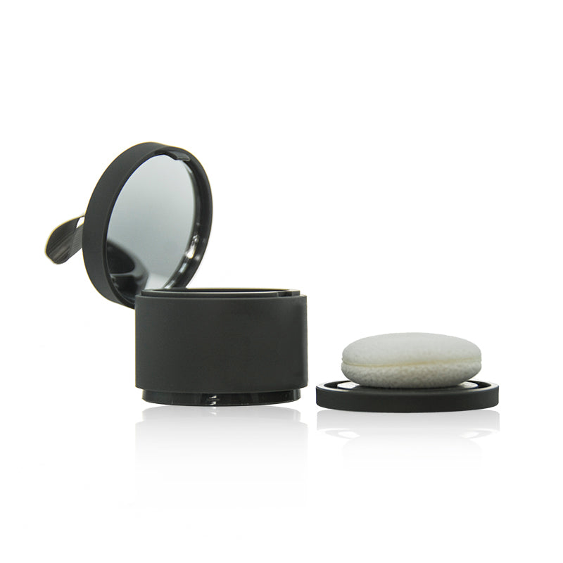 Face Powder Jar with Puff and Mirror #