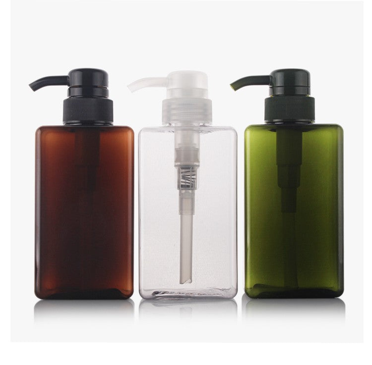 Square Bottle with Lotion Pump PET Down-Lock