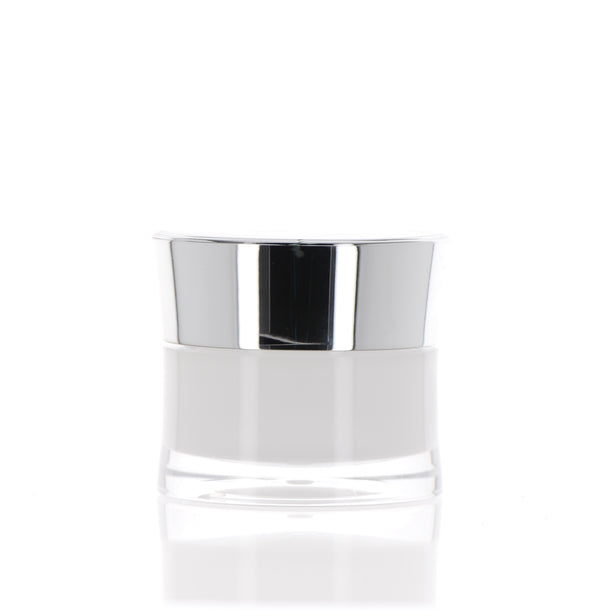 Silver Cap with Slant, Double Wall Jar, 25ml