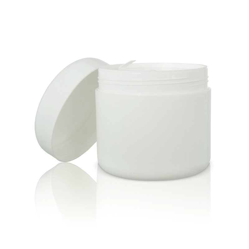 Rounded White Cream Jar