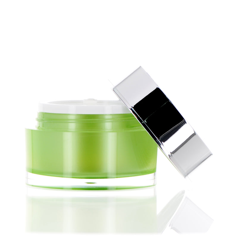 Green, Double Wall Jar, 45ml