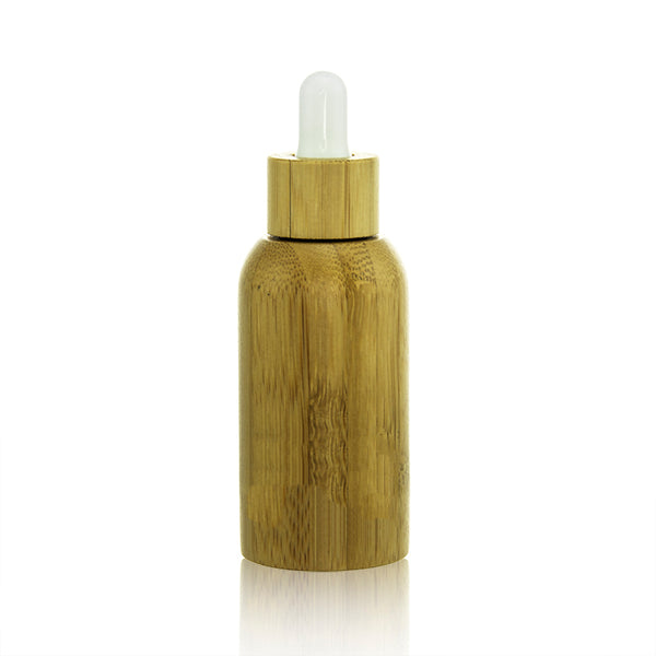 Bamboo Glass Dropper Bottle