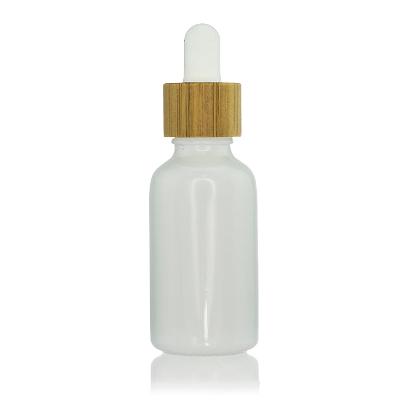 Ceramics Bottle with Bamboo Closure Dropper
