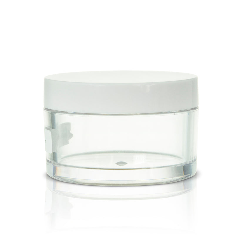 PETG Clear Jar White Cap #