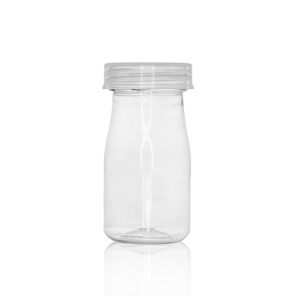 PET Pudding / Milk Bottle Style Clear