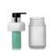 Frosted Glass bottle w/ pump & inner refill bottle