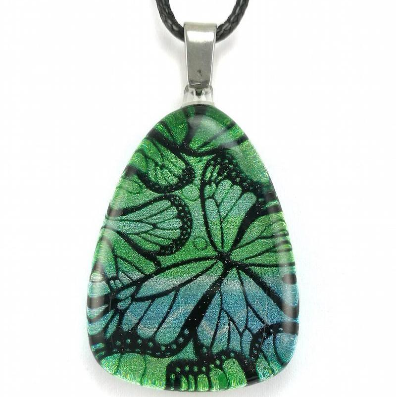 Turquoise Monarch Butterfly Pendant