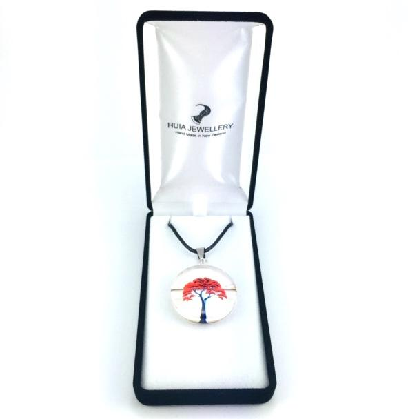 White New Zealand Pohutukawa Tree Pendant