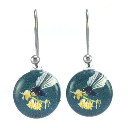 Green Fantail Earrings