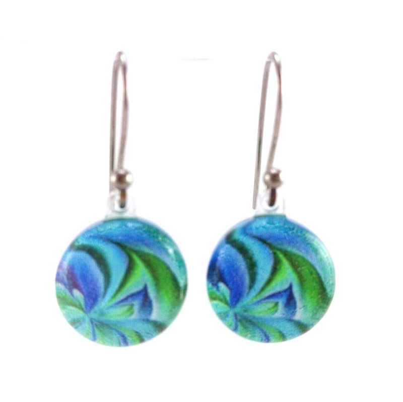 Turquoise Petals Earrings