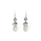 Pèrle White & Silver Hook Earrings