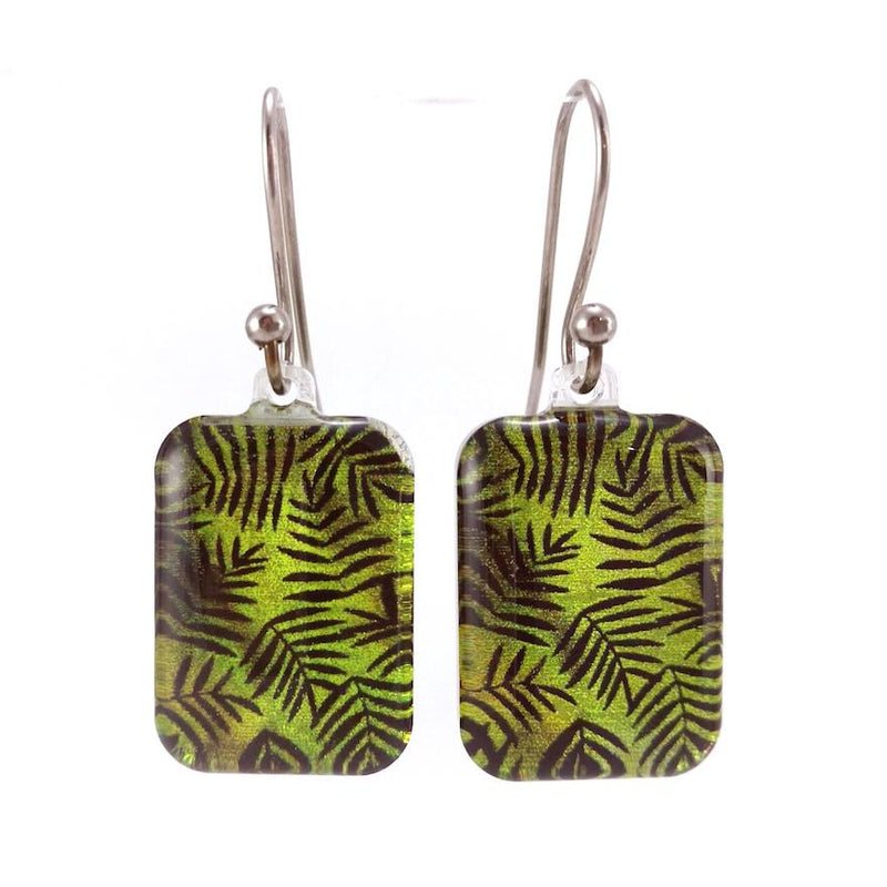 Green Fern Earrings