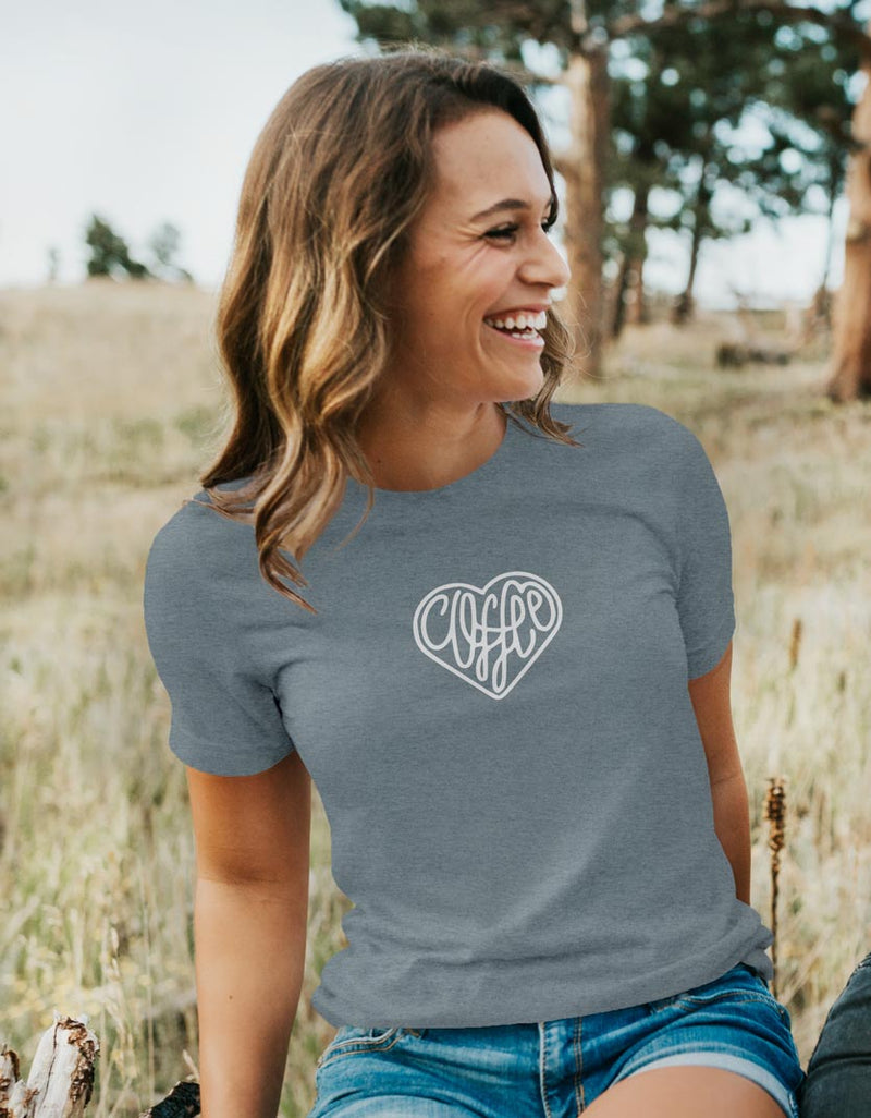 Love For Coffee - Women's Unisex Fit T-Shirt