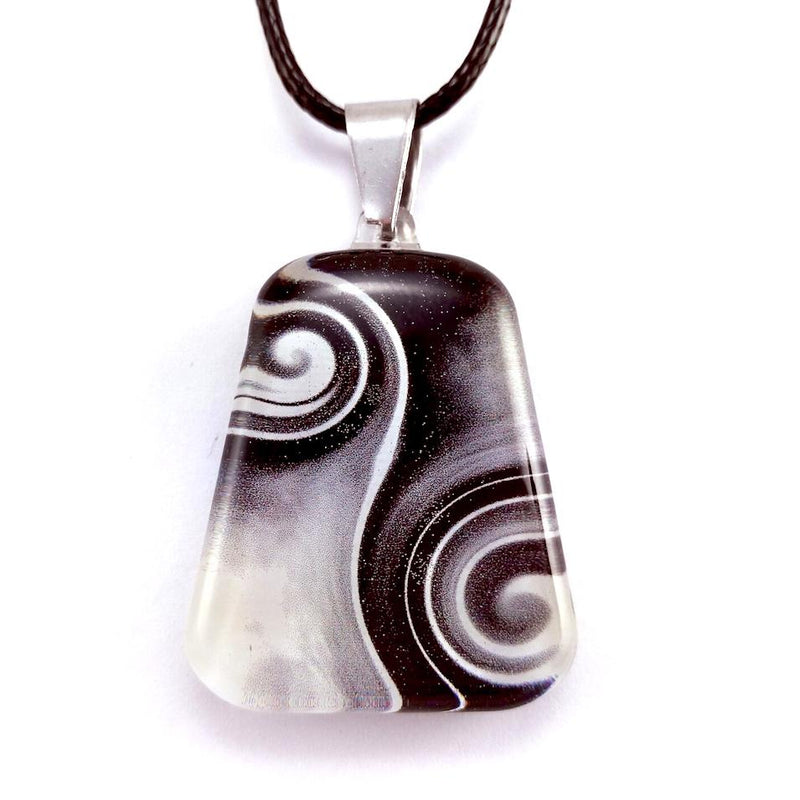 Black & White Two Waves Pendant