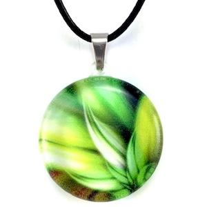 Green Feathers Pendant