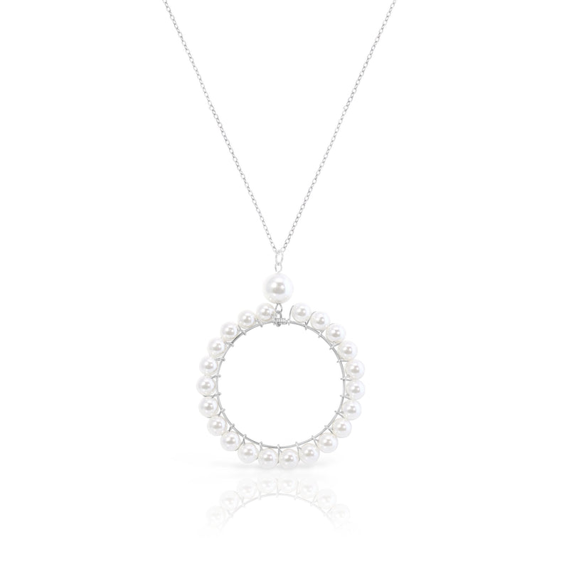 Pèrle Circle of Pearls Chain Necklace