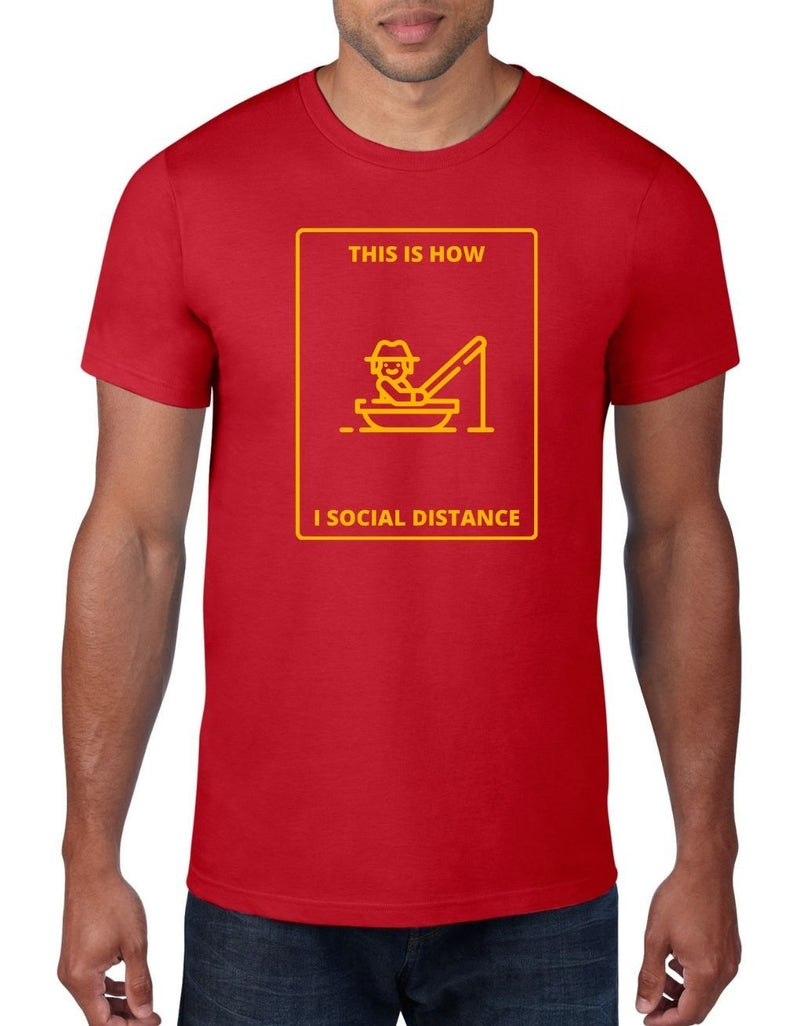 This is how I social distance - Fishing T-Shirt For Men