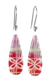 Red Pacific Gem Earrings