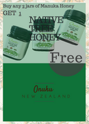 Onuku Certified Manuka Honey UMF15+/MGO515+ 250g -Buy 2 Get 1 Native Tree Honey Free