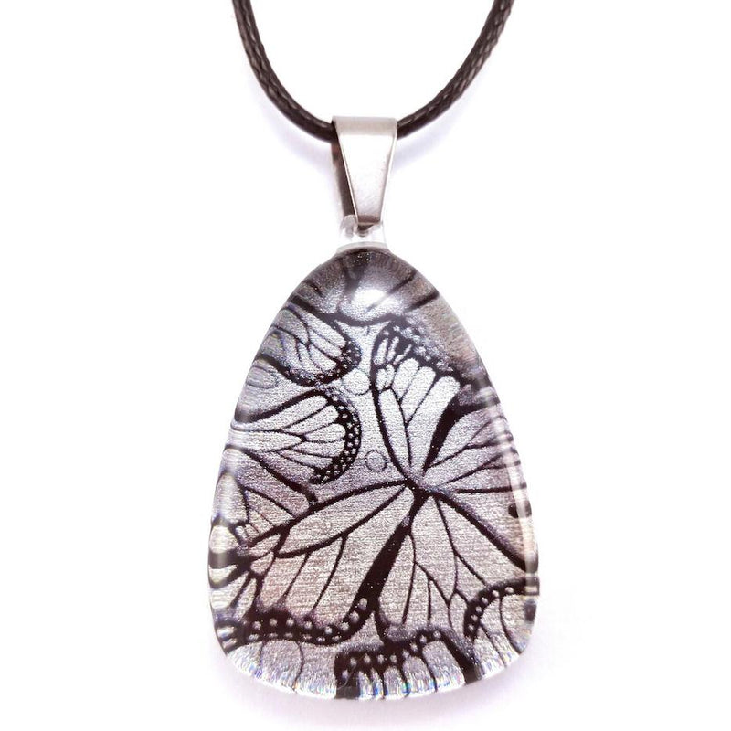 Silver Monarch Butterfly Pendant