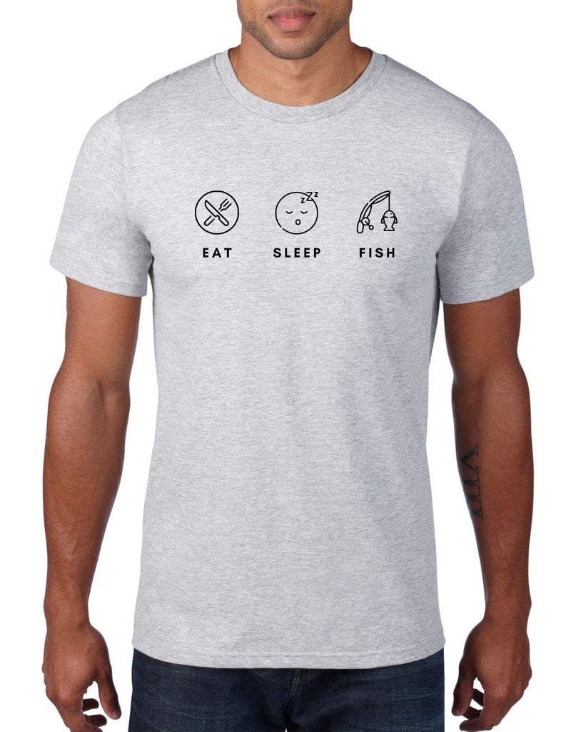 Eat Sleep Fish - Fishing T-Shirt For Men